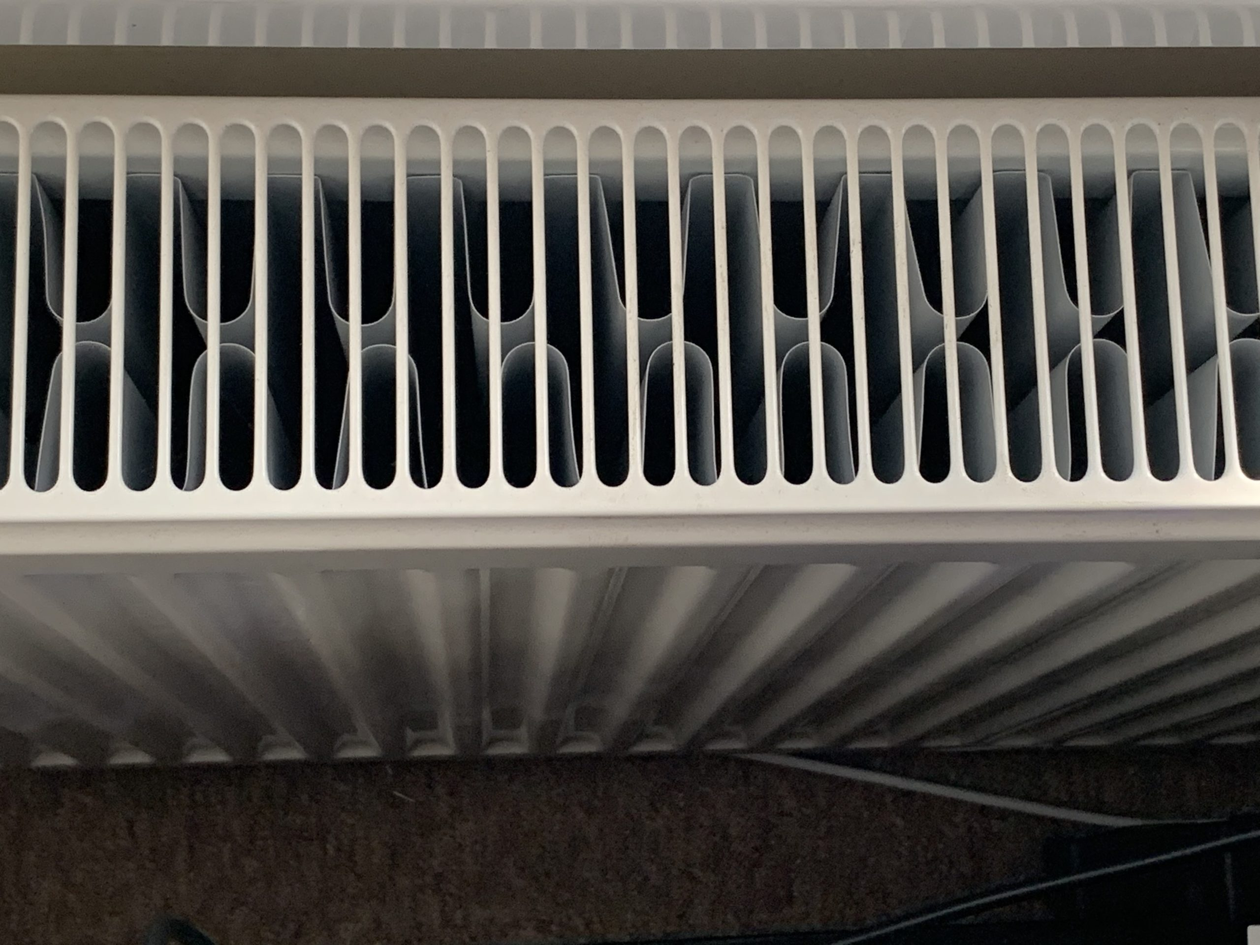 Photo showing a double convector radiator.