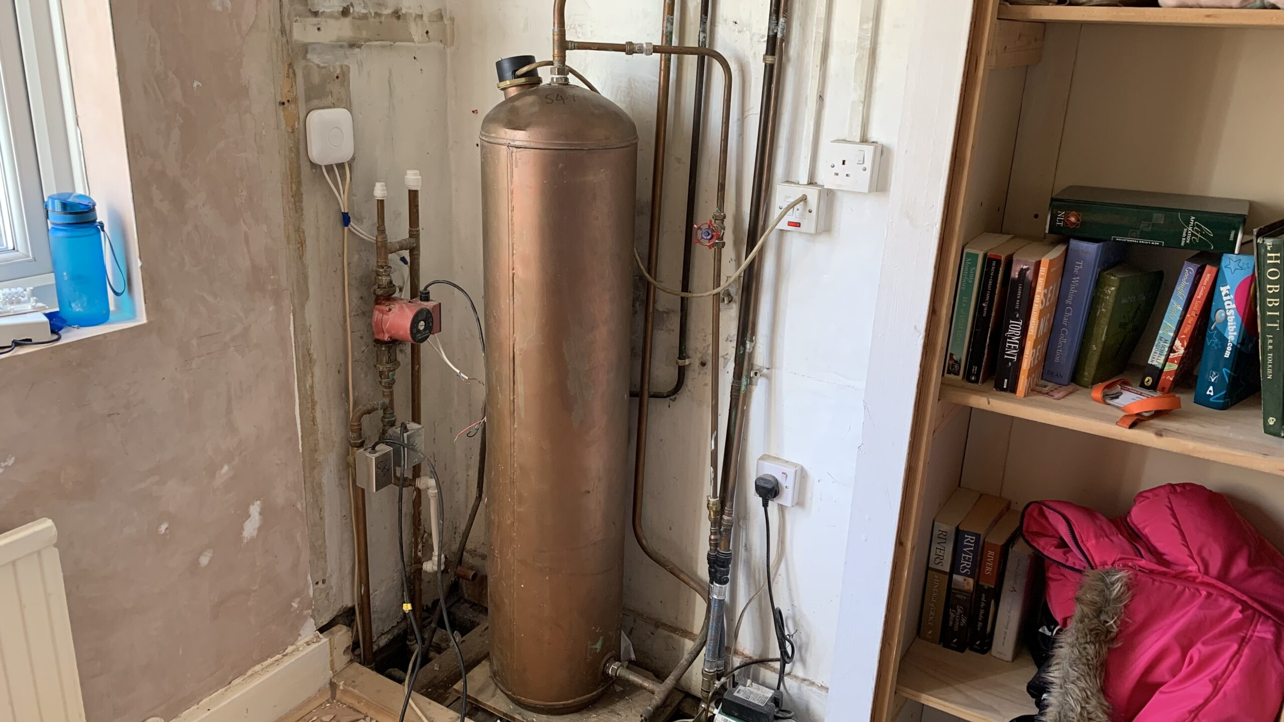 Old Hot Water Storage Cylinder